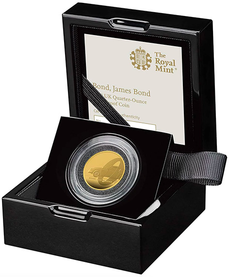 royal mint quarter ounce gold coin james bond 007 collection limited edition