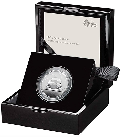 Royal Mint 007 special issue 5 ounce silver coin james bond