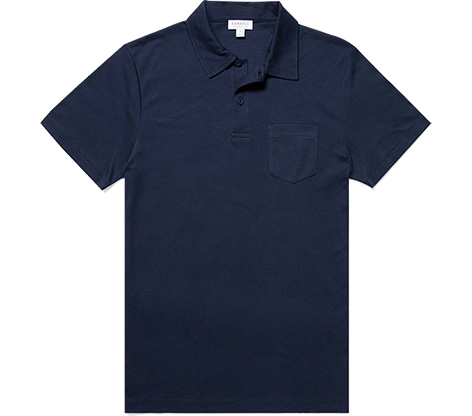 Sunspel Riviera Navy Sea Island Cotton