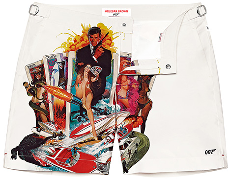 Orlebar Brown Live and Let Die photographic poster print shorts