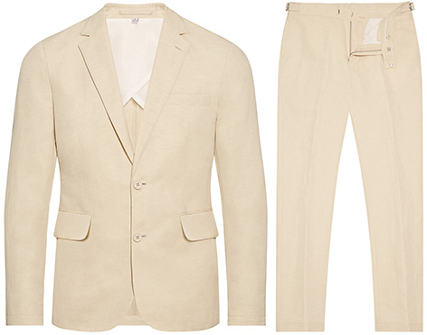 Orlebar Brown linen suit inspired by George Lazenby James Bond On Her Majesty's Secret Service
