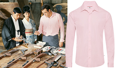 Orlebar Brown pink shirt James Bond You Only Live Twice