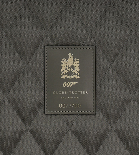 007 Limited Edition Carbon Fibre Carry-on Trolley Case with 4 wheels James Bond family crest