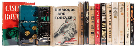 Ian Fleming James Bond books american first editions Potter