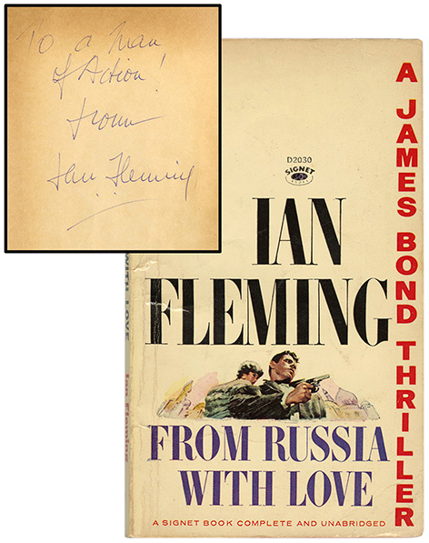 Ian Fleming James Bond book signed inscribed auction Potter