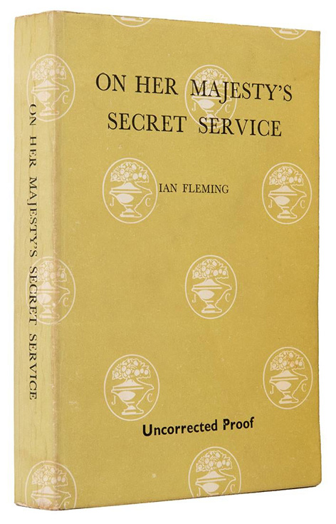 Ian Fleming James Bond Majesty's Secret Service auction Potter