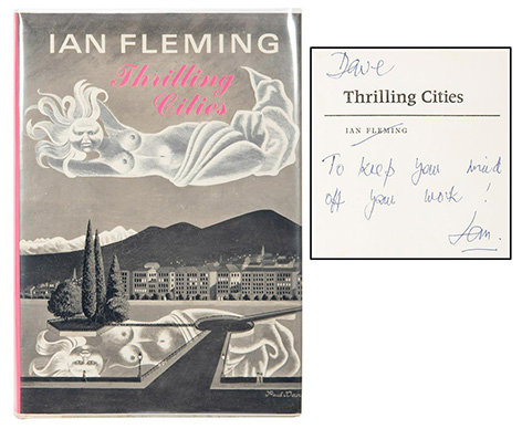 Ian Fleming Thrilling Cities inscribed auction Potter