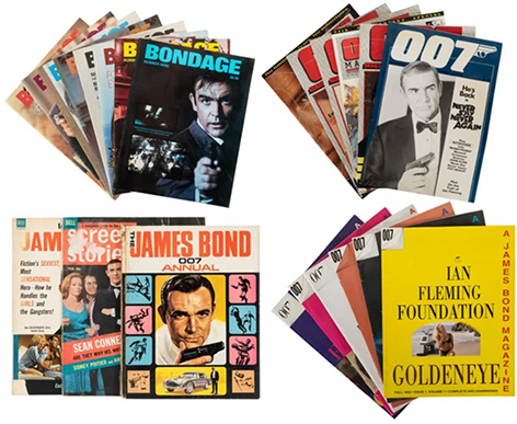 James Bond magazines auction