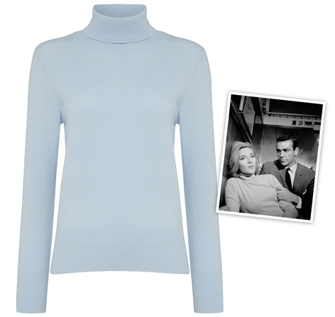 NPeal 007 Roll Neck Sweater blue From Russia With Love