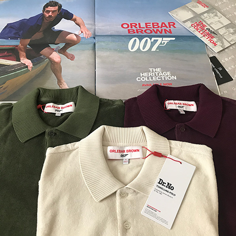 Orlebar Brown 007 Heritage Collection Dr No Towelling Polo all James Bond Lifestyle