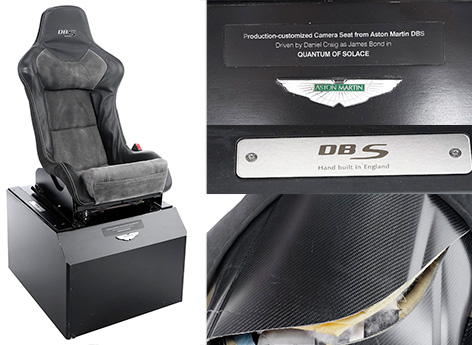 Prop Store Quantum of Solace Aston Martin DBS seat auction