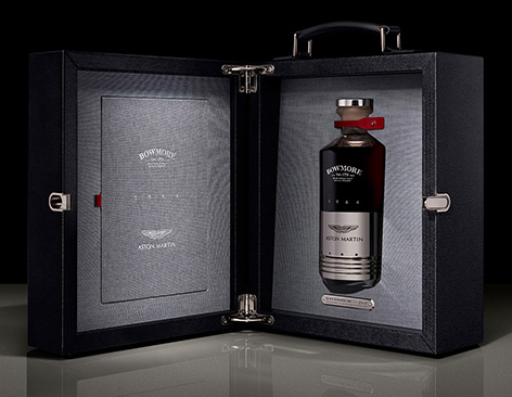 Aston Martin Black Bowmore DB5 1964 whisky case