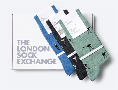 The London Sock Exchange 007 Collection - The Double-O Gift Box