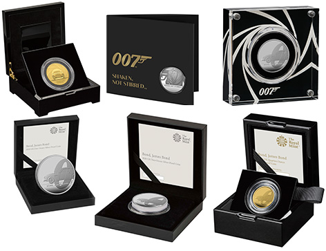 Royal Mint James Bond coins 007 limited editions