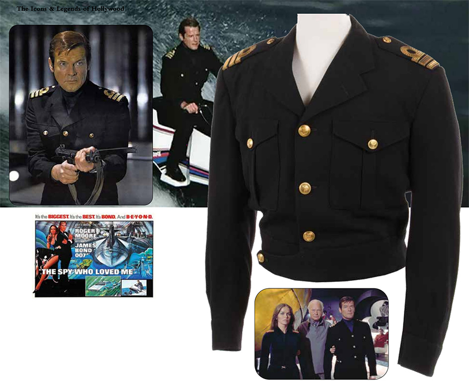 Roger Moore James Bond Royal Navy uniform jacket from The Spy Who Loved Me