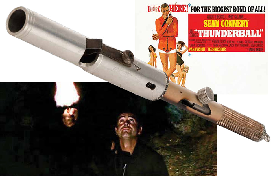 Miniature Flare Gun from Thunderball auction