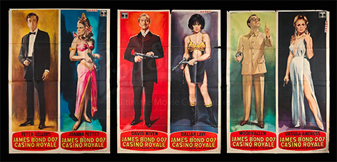 Casino Royale James Bond posters auction 1969 peter sellers
