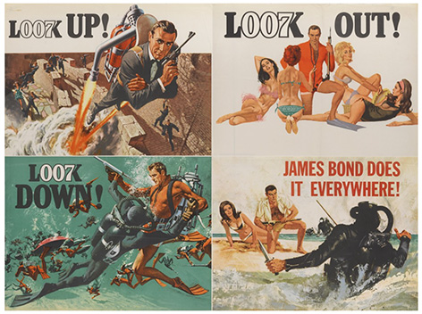 Thunderball poster Sothebys auction