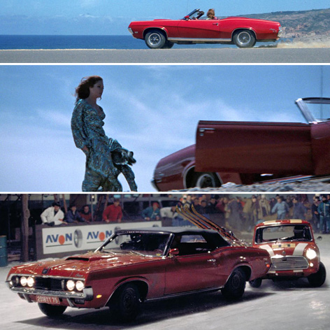 The Mercury Cougar XR-7 in On Her Majesty's Secret Service, driven by Tracy (Diana Rigg)