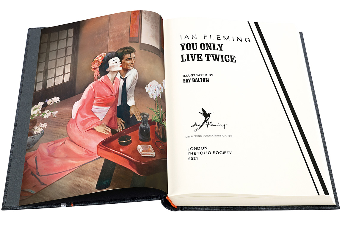 You Only Live Twice Folio Society open fold spread