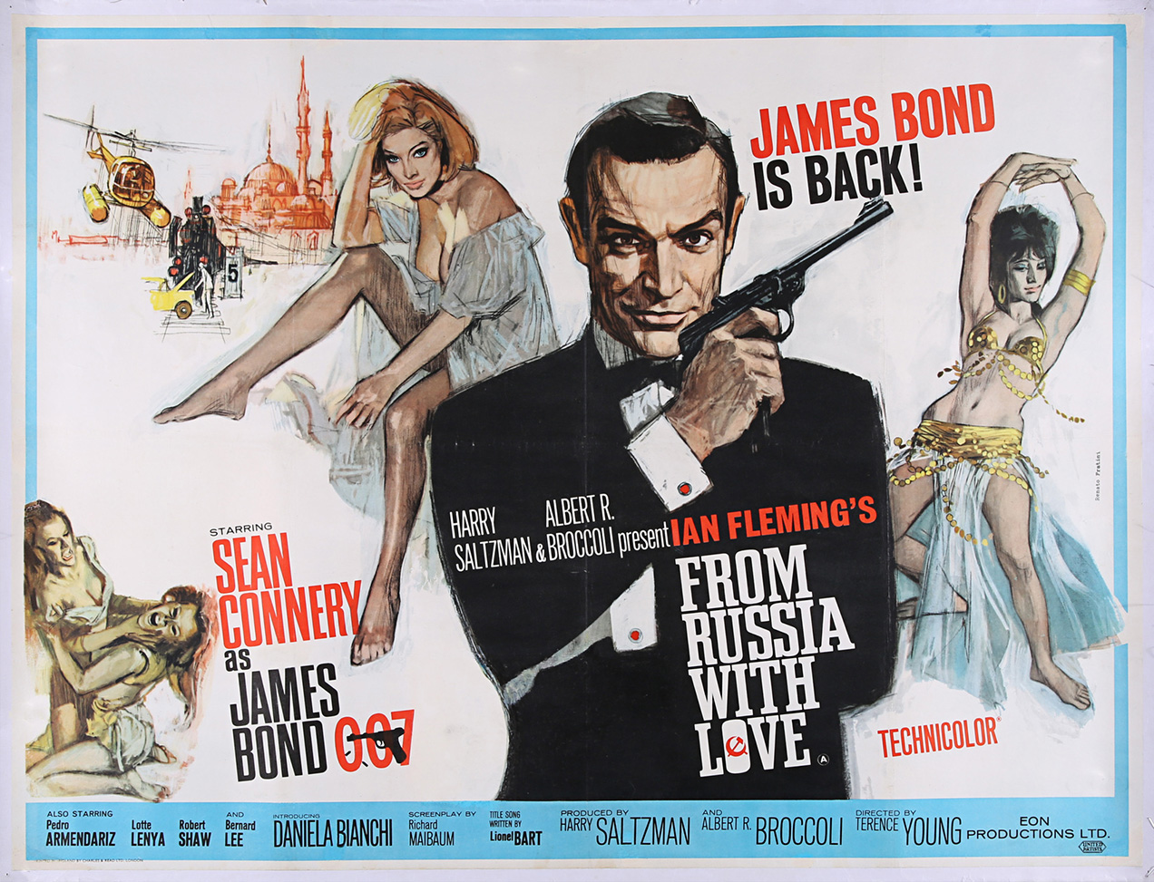From Russia With Love Poster auction prop store