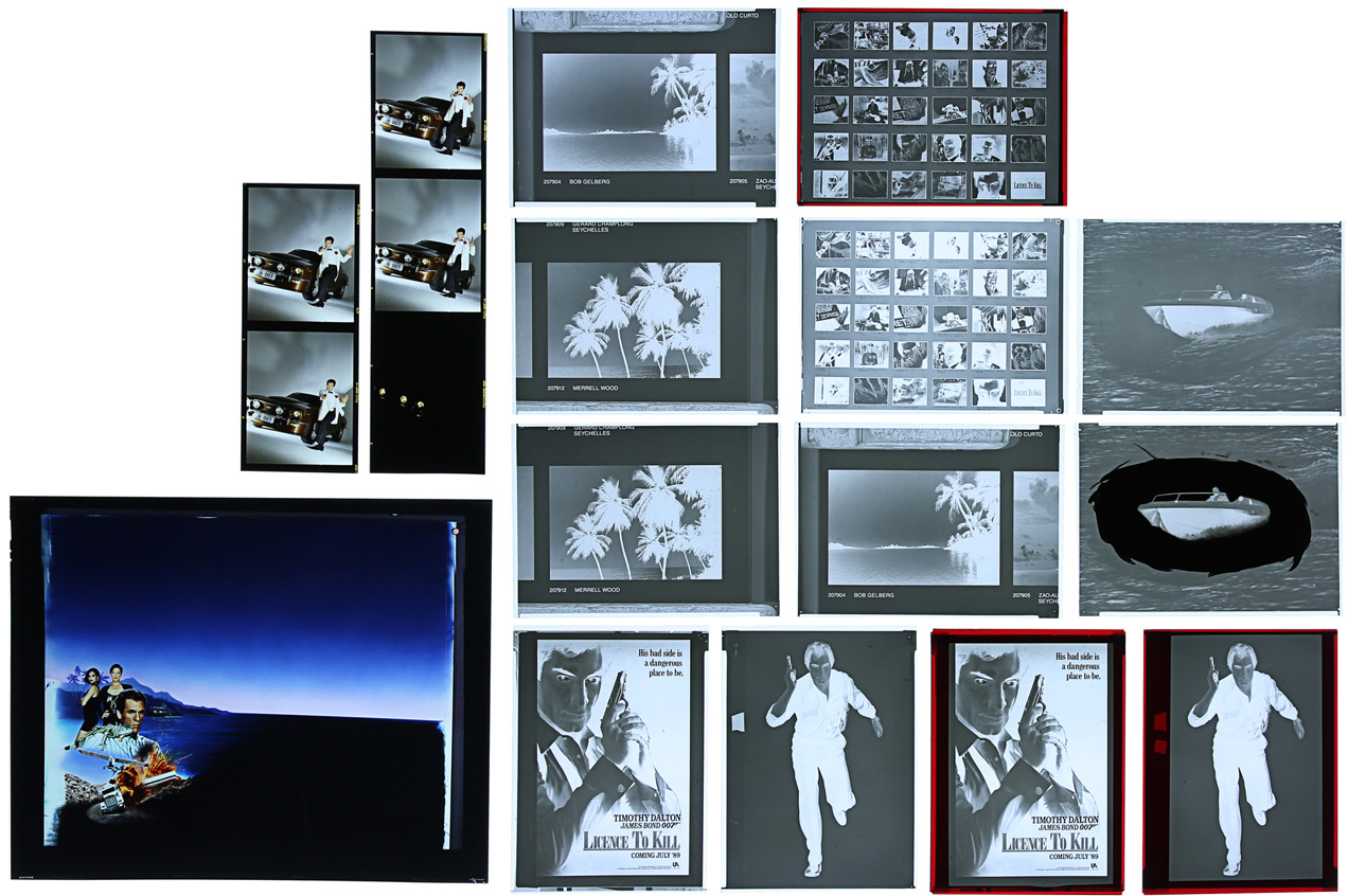 Licence to Kill film negatives poster auction