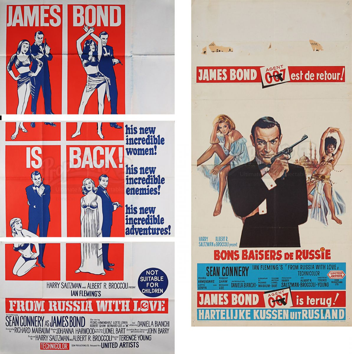 James Bond From Russia With Love posters auction prop store belgium