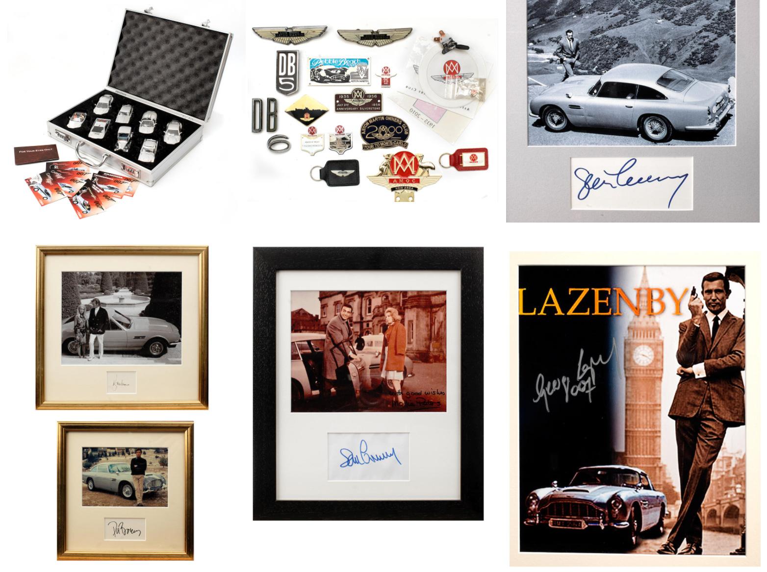 Aston Martin Bonhams toys signed photos