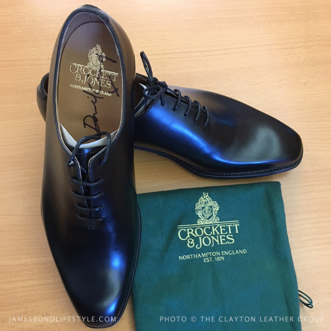 Crockett Jones Alex shoes signed by Daniel Craig SPECTRE