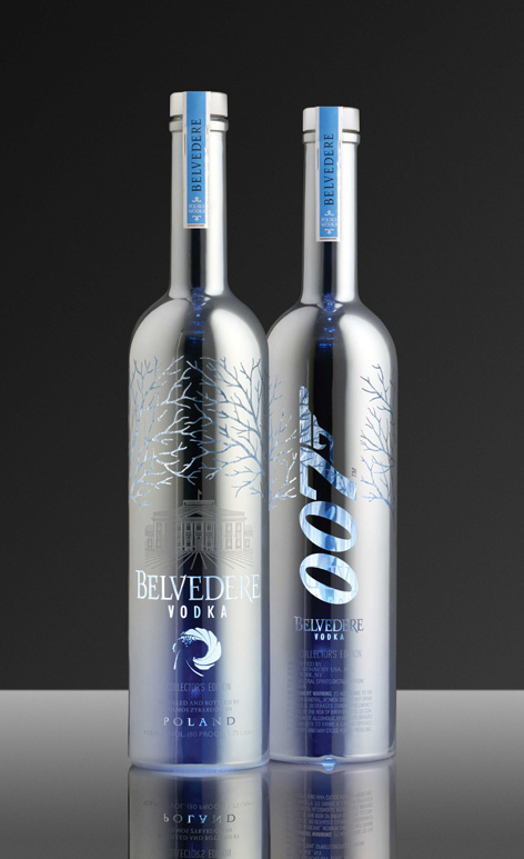 silver sabre bottle spectre 007 james bond belvedere