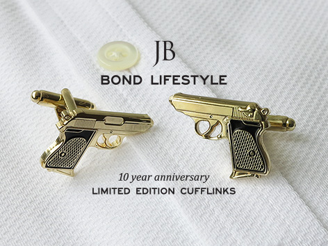 bond lifestyle gold cufflinks