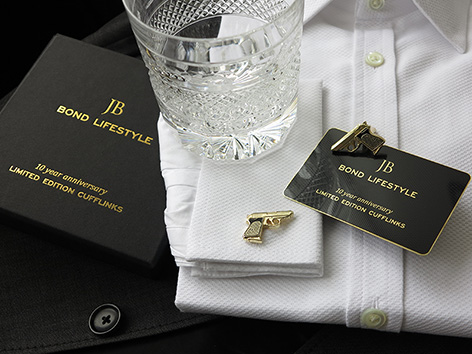 bond lifestyle cufflinks limited edition