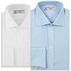 Turnbull Asser Dr No shirt bleu white