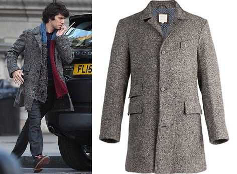 Billy Reid Astor coat Q Ben Wishaw SPECTRE