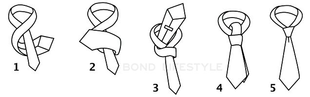 how to tie a tie four in hand
