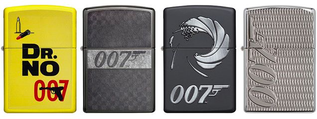 James Bond Zippo Lighters