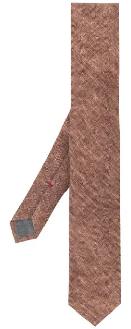 Brunello Cucinelli brown linen necktie Q