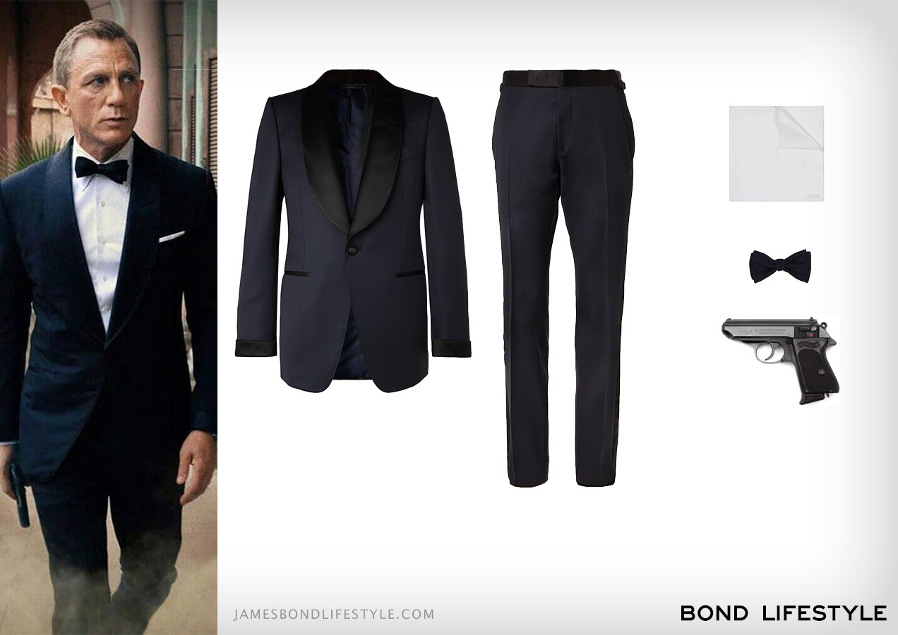 Tom Ford tuxedo outfit James Bond Daniel Craig No Time To Die