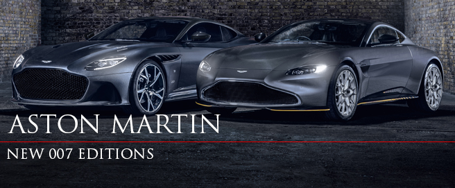 Aston Martin DBS Superleggera and V8 No Time To Die editions