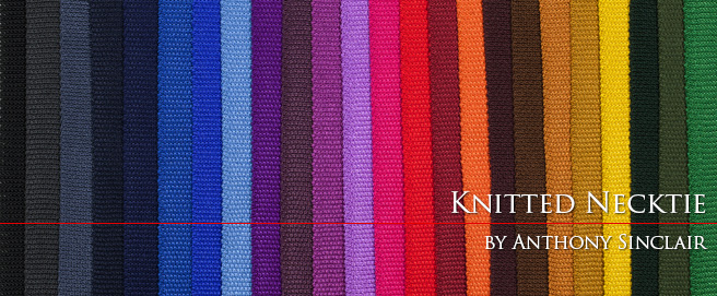 Anthony Sinclair knitted ties now available