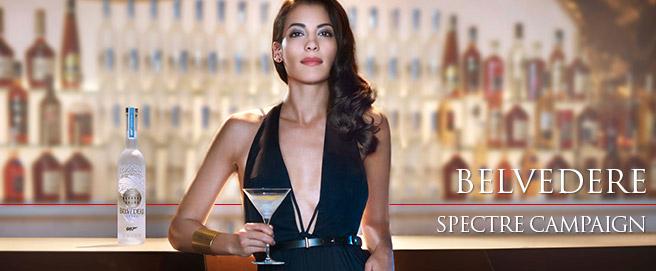 Belvedere Stephanie Sigman SPECTRE campaign