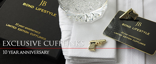 Bond Lifestyle 10 Year Anniversary Limited Edition Cufflinks - click to order