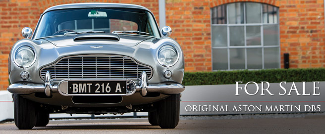 Original James Bond Aston Martin DB5 Chassis DB5/2008/R on auction in Monterey