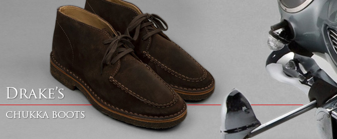 HP Drake's chukka boots in No Time To Die