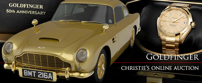Goldfinger 50th anniversary auction at Christie's