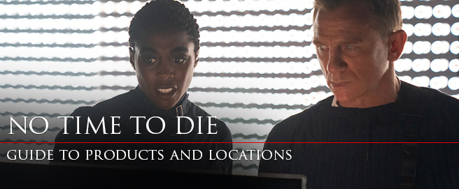 Bond 25 Guide products and locations HP No Time To Die