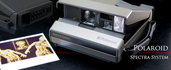 Polaroid Spectra System camera with laser