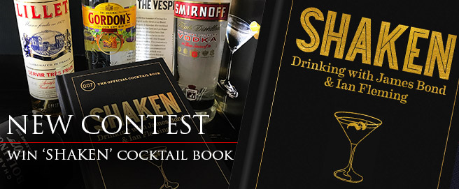 Win Shaken cocktail book contest competition giveaway James Bond Ian Fleming