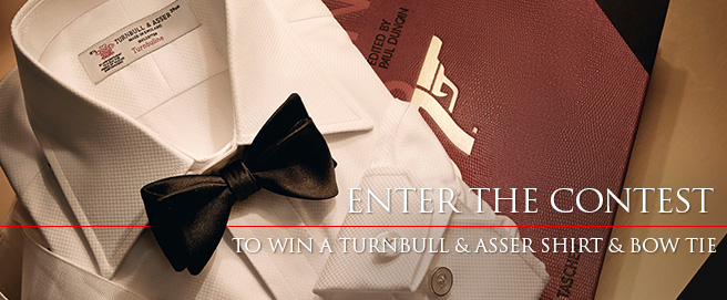 Win a Turnbull & Asser Bow Tie and Shirt