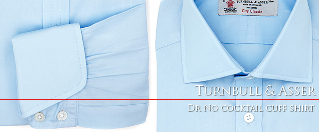 Turnbull & Asser Dr. No 'cocktail cuff' shirt available online